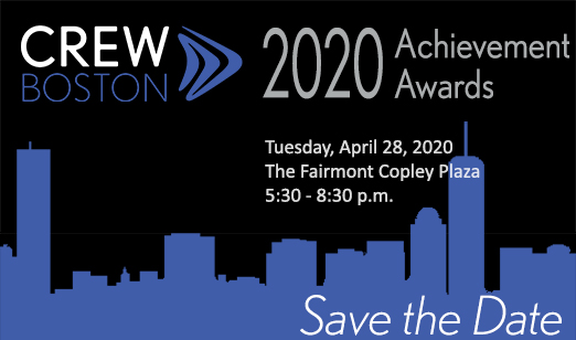 CREW Boston announces 2020 Achievement Award Honorees