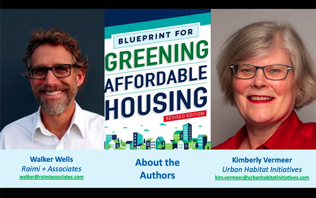 GREENING AFFORDABLE HOUSING, a Book Talk with Kimberly Vermeer